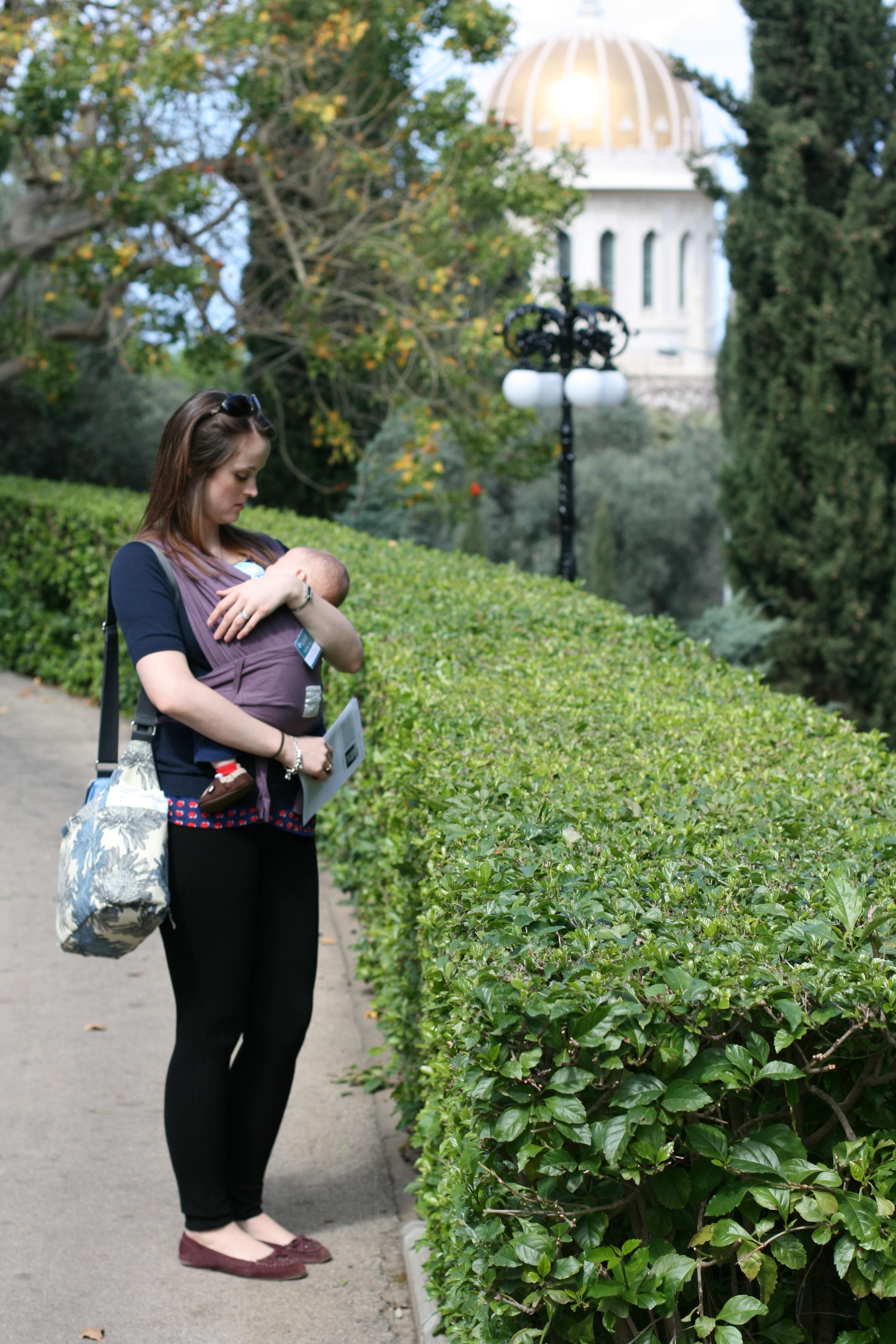 Asher in the Baby K'Tan in Haifa, Israel